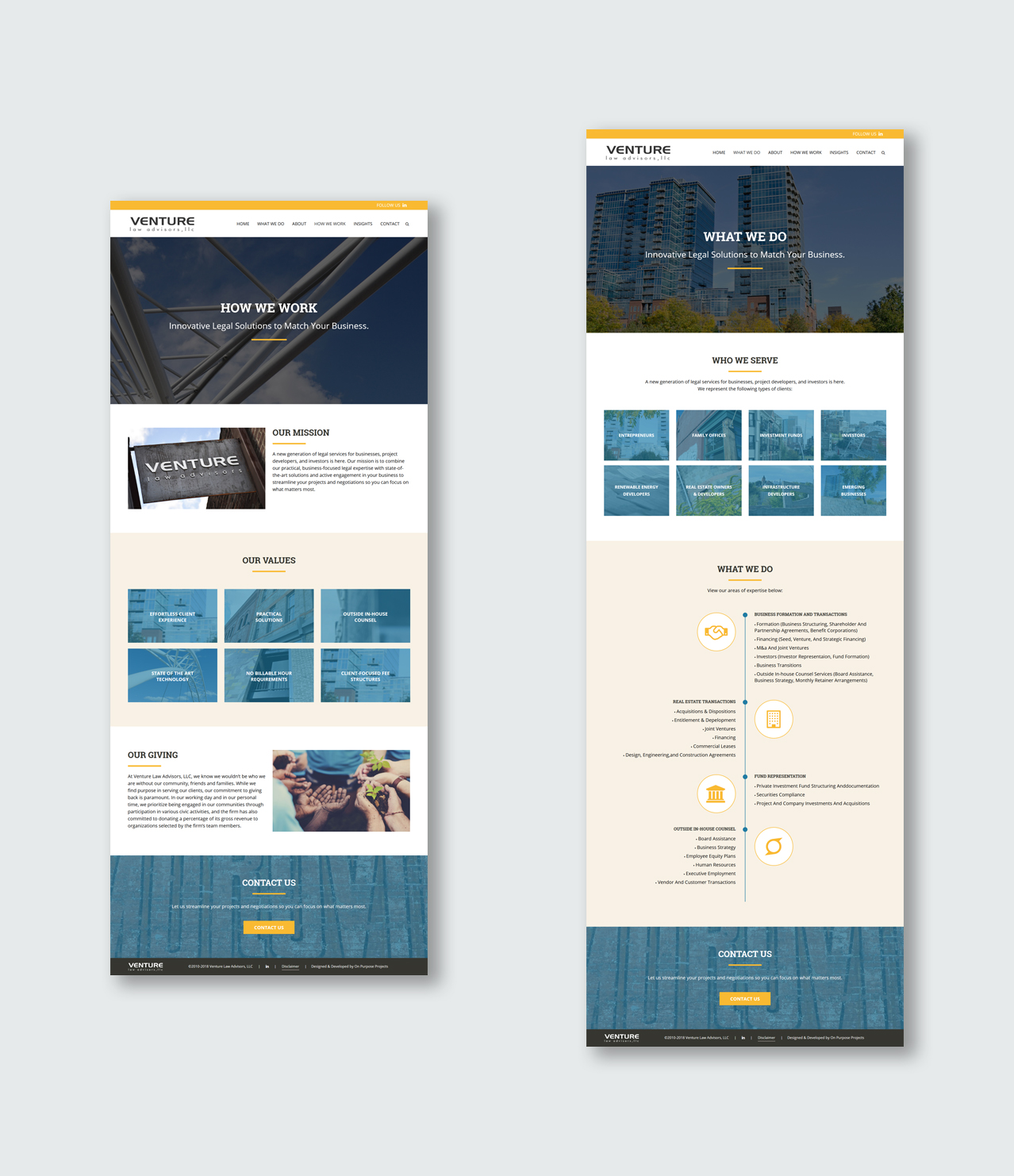 On Purpose Projects – Modern, Professional Websites for